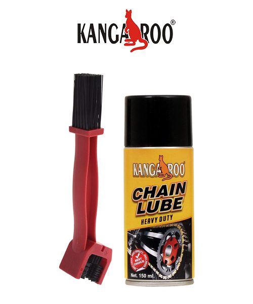 kangaroo chain lubricant spray 150 ml-chain brush