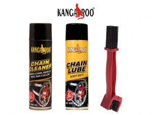 kangaroo chain lubricant spray-chain cleaner-brush