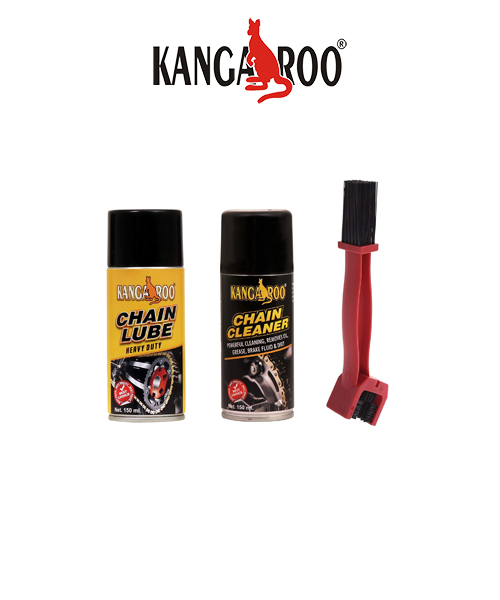 kangaroo chain lubricants-cleaner-spray-brush