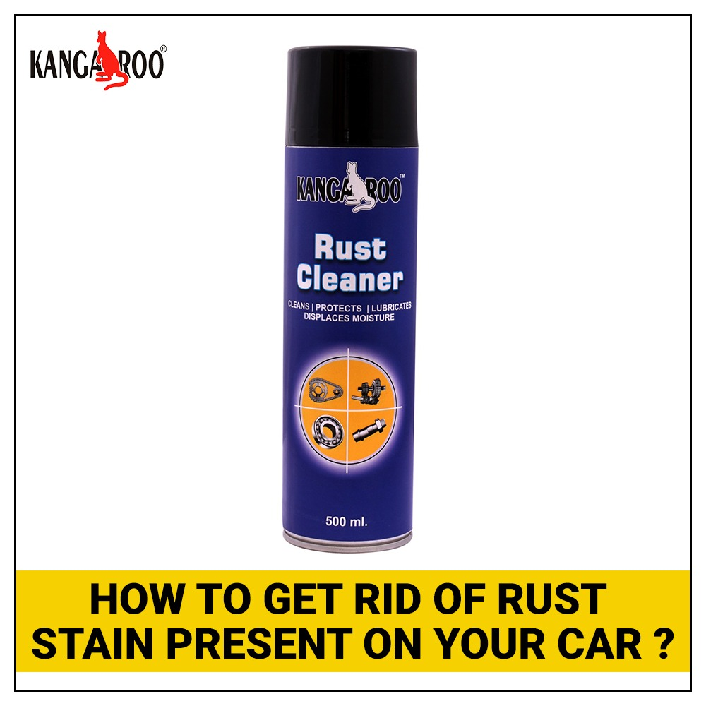 How to get rid of rust stain present on your car?