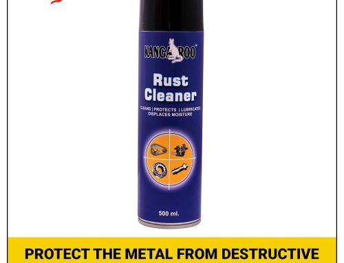 Protect the metal from destructive rust with rust remover spray